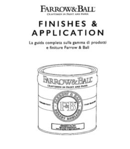 manuale per la giusta scelta dei prodotti Farrow and Ball